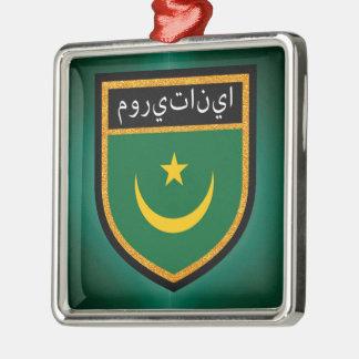 Mauretanien-Flagge Silbernes Ornament