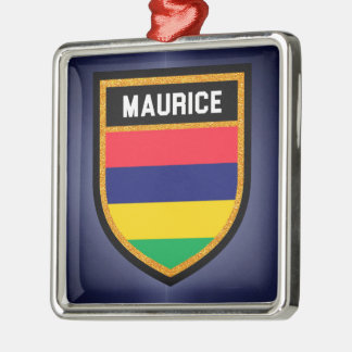 Maurice-Flagge Silbernes Ornament