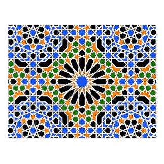 Maurische Fliese 2012 Kalender-Postkarte