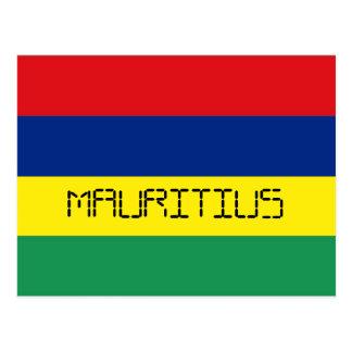 Mauritius-Flagge Postkarte