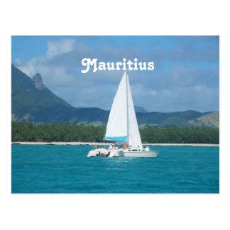 Mauritius-Segeln Postkarte