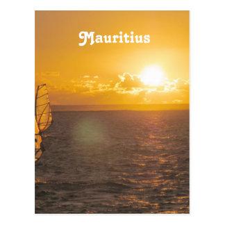 Mauritius-Sonnenuntergang Postkarte