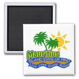 Mauritius-Staat des Sinnesmagneten Quadratischer Magnet
