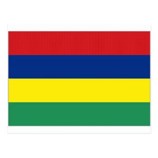Mauritius-Staatsflagge Postkarte