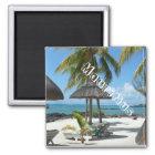 Mauritius , Strand Quadratischer Magnet