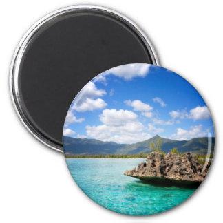 Mauritius-Strand-runder Magnet