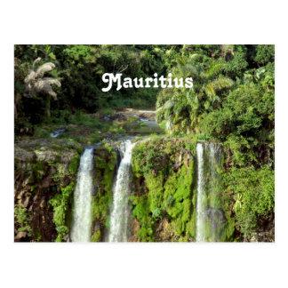 Mauritius-Wasserfälle Postkarte