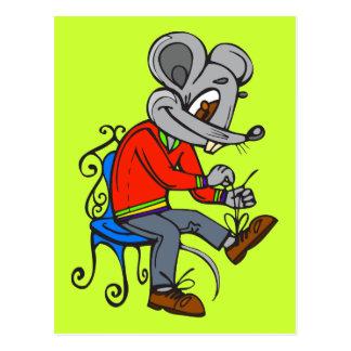 Maus, die angekleidet erhält postkarten