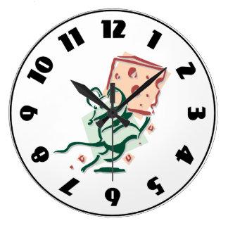 Maus, die Käse-Uhr nimmt Große Wanduhr