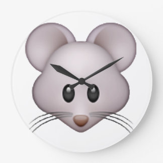 Maus - Emoji Große Wanduhr