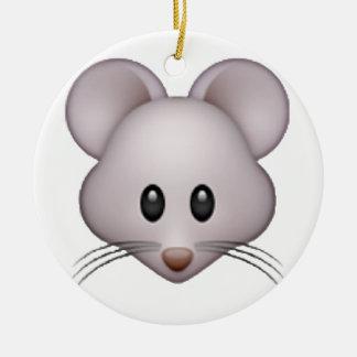 Maus - Emoji Keramik Ornament