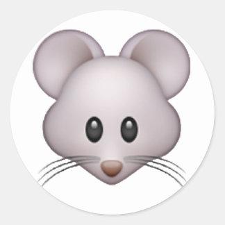 Maus - Emoji Runder Aufkleber