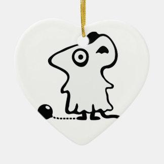 Maus Gespenst - Poltergeist Keramik Ornament