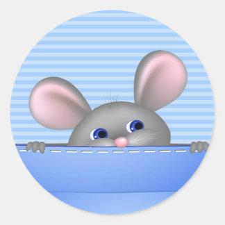 Maus in der Tasche Aufkleber