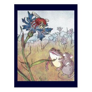 Maus, Kröte u. Hornisse in der Wiese Postkarte