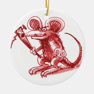 Maus mit harter Planke Keramik Ornament