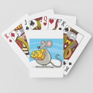 Maus mit Käse-Spielkarten Spielkarten