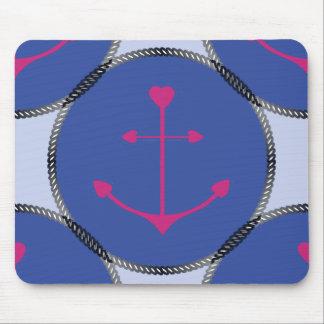 Maus Pad_Nautical_Anchors_RB Mauspads