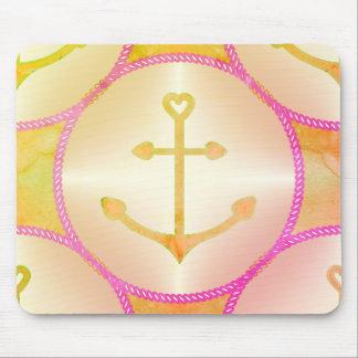 Maus Pad_Nautical_Reflections_Anchors_YOP Mousepad