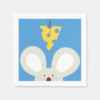 Maus und Käse Papierservietten
