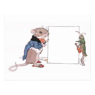 Mäuse-u. Heuschrecken-Griff Ihr Foto Postkarte