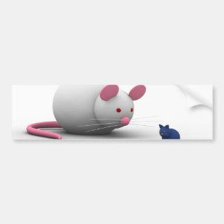 Mäuse und Katzen-Spiel Autoaufkleber