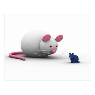 Mäuse und Katzen-Spiel Postkarte