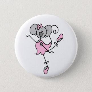 Mäuseballerina-Knopf Runder Button 5,7 Cm