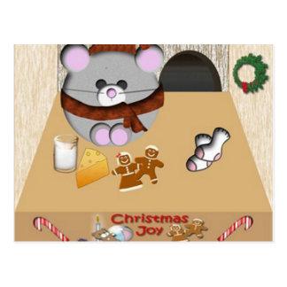 Mäusehaus Weihnachten Postkarte