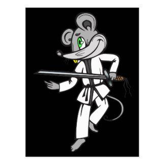 MäuseKampfkünste Postkarte