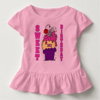 Mäusekuchen-süße Geburtstags-Gewohnheits-T - Kleinkind T-shirt