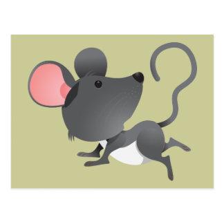 Mäusemäuseratten-Nagetier-Säugetier-niedliches Postkarten