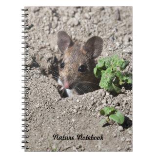 Mäusenotizbuch Spiral Notizblock