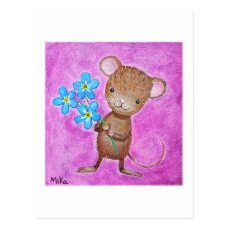 Mäusepostkarten-niedliche Maus vergessen mich Postkarte
