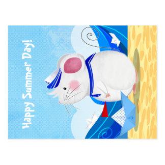 Mäuseseemannpostkarte Postkarte