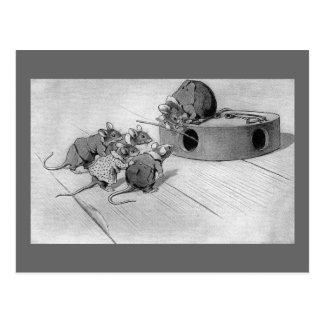 Mäusesuchvorgänge, zum von Mousetrap zu sperren Postkarte