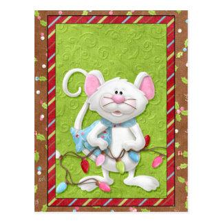 Mäuseweihnachtskarten Postkarte