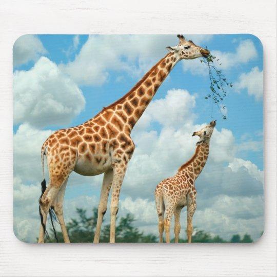Mauspad Giraffen Mutter und Kind