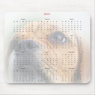 Mausunterlage mit 2015 Kalendern, niedliche Mauspad