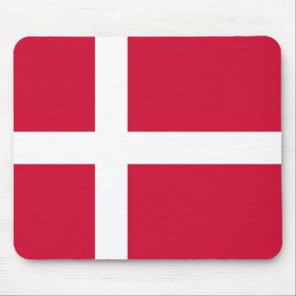 Mausunterlage mit Flagge von Dänemark Mousepad