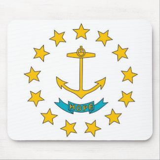 Mausunterlage mit Flagge von Rhode Island Staat - Mousepad