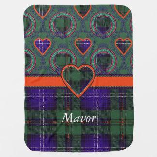 Mavor Clan karierter schottischer Kilt Tartan Puckdecke