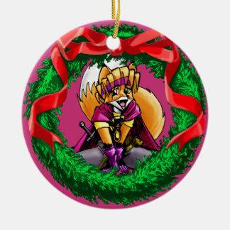 Mavra der magische Vixen Keramik Ornament