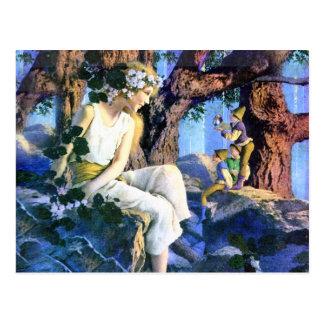 Maxfield Parrishs angemessene Prinzessin und die Postkarten