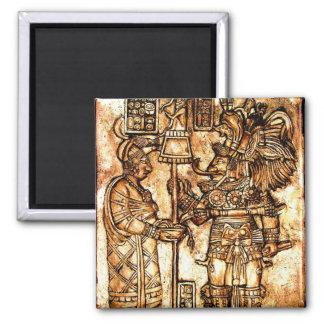 Mayacarvings-Foto-Reihe #1 Quadratischer Magnet