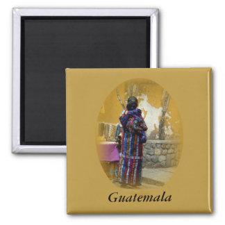 Mayafrau in Panajachel Guatemala Ihre Wörter Quadratischer Magnet