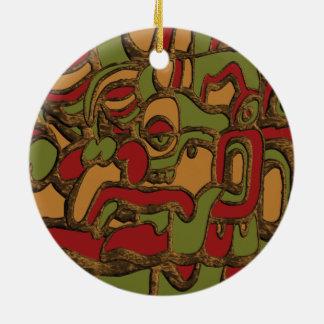 Mayahieroglyphen-Entwurf Rundes Keramik Ornament
