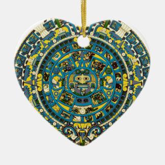 Mayakalender Keramik Ornament