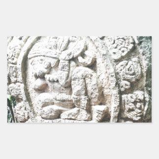 Mayakalender Rechteckiger Aufkleber