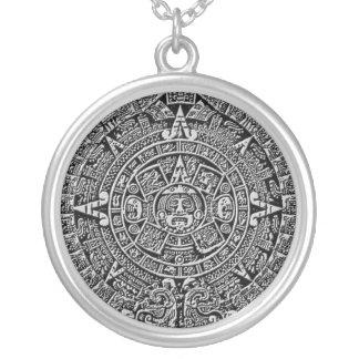 Mayakalender Versilberte Kette